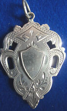 LARGE HEAVY Sterling  Silver Medal / Watch Fob -  Not engraved 1908 Alfred Cox