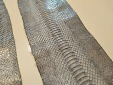 2 Pcs Grey Gray Genuine Water Snake Skin Leather Hide Python