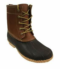 Men's Sporto Duck Boot-Leather Shaft/Rubber Foot-Tan/Brown - HOT ITEM! FREE SHIP