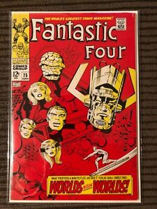 Fantastic Four #75 HIGH GRADE BRIGHT GORGEOUS COPY - Surfer and Galactus!!!