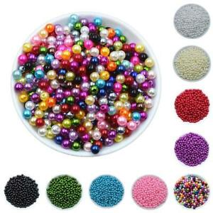 6/8mm Acrylic Round Imitation Pearls Spacer Loose Beads For Handmade DIY Jewelry