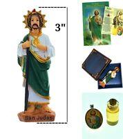 St Jude medal Novena book kit for impossible cases  prayer blessed oil NEW