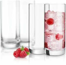 Highball Glasses Set Of 6, 10 oz. Crystal Clear Drinking Cups, And Cocktails