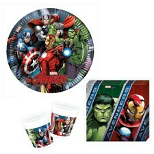 36-tlg. Party Set Marvel Avengers Deko Hulk Captain Amerika Ironman Geburtstag