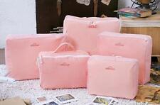 5 PCS Waterproof Storage Bags Packing Cube Travel Luggage Organizer Wedding Gift