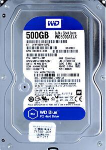 Western Digital (WD5000AZLX) 500GB BLUE SATA III (LFF) 6Gb/s 7.2K HDD