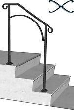 Iron X Handrail Arch #2 RAILING Rail Fits 2 or 3 Step