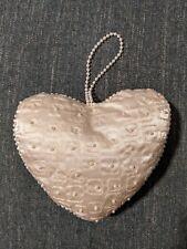 Heart Shape Elegant Wedding Ring Bearer Pillow Pearl Beads