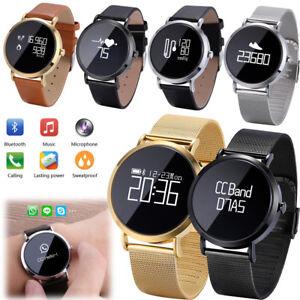 Women Men Bluetooth Smart Watch Calls/SMS Alert for iPhone Samsung Note 8 9 10 +