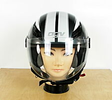 AGV Blade Open-Face Adult Helmet, Black/White/Silver Adult L, 59-60 CM. NICE!