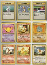 POKEMON CARD LOT 3 Trainers/15 Pokemon/9 Energy 1st Series Used/High Grade VF/NM