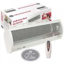 Over Door Cooling Air Curtain Fan & Heater + Remote Control 3Kw Cool Overdoor