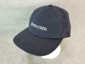 J Crew Hat Cap Snapback Blue RARE White Embroidery 6 Panel One Size Fits Most
