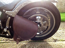 HARLEY DAVIDSON SOFTAIL PELLE MARRONE SELLA BORSA FORCELLONE LATO Laterale