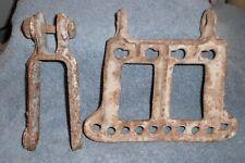 Antique Vintage Horse Drawn Farm Implements 10 Hole Cast Iron Clevis & Regular