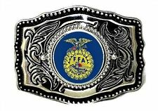 Smaller FFA 4H Fair Western Country Future Farmers 4 H Belt Buckle  Made in USA