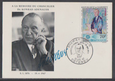 Dahomey 1967 FDC Ausgabe Konrad Adenauer