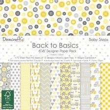 "Dovecraft Back to Basics Baby Steps - Card Craft Paper Pad 6x6"" (150gsm)"