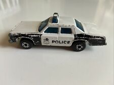 Vintage Matchbox Superfast Plymouth Gran Fury Police #10 Lesney