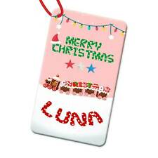 Personalised Any Name Rectangle Christmas Bauble Tree Decoration Gift 120