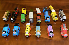 Thomas Wooden Railway 20 Piece Lot Of Trains With Cabooses Tenders And Cargo