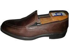 ALLEN EDMOND'S Bucktown Brown Leather Plain Toe Slip On Loafer Dress Shoes 9 D
