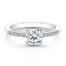 0.81 Ct Certified Cushion Cut Diamond Wedding Ring 950 Platinum Size L M N O