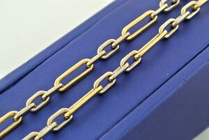 "18k Two Tone Gold Fancy Men's Chain Necklace, 58.8gn, 30"", S104613"