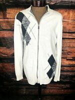 Buckle BKE Full Zip Long Sleeve Sweater Light Grey Slim Fit Size XL