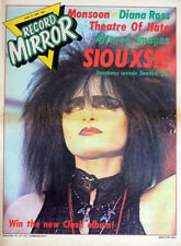 RECORD MIRROR 12 JUNE 1982 . SIOUXSIE SIOUX COVER. QUEEN 2 PAGE ADVERT . NOT NME