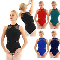 Women Ladies Leotard Sleeveless Ballet Dance Gymnastics Bodysuit Adult Dancewear