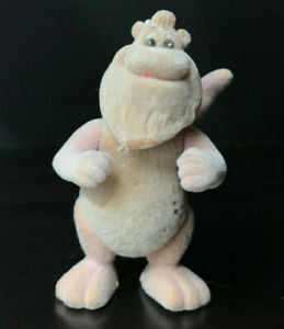 """Vintage WOOLY WHAT'S-IT Alchemy 1986 Flocked POSEABLE 3"""" tall TEDDY RUXPIN Fuzzy"""