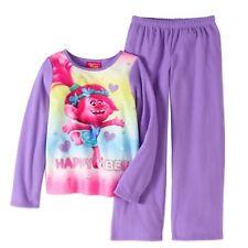 DreamWorks Trolls 2 Piece Long Sleeve Sleepwear Set Purple 7/8