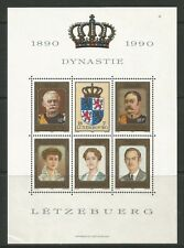 Luxembourg 1990 Nassau-Weilburg Dynasty 100th ss--Attractive Topical (843) MNH