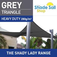 Triangle Grey 3m x 5m x 5m Shade Sail Sun Heavy Duty 280GSM Outdoor Grey