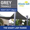 Triangle Grey 3m x 4m x 4m Shade Sail Sun Heavy Duty 280GSM Outdoor Grey