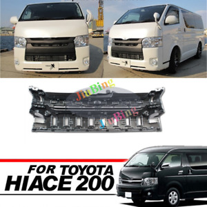 Black Chrome Front Grill Grille For Toyota Hiace 200 IV Commuter Van 2014-2016