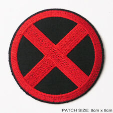 X-MEN - Marvel Comics New Style Red/Black Quality Iron-On Embroidered Patch!