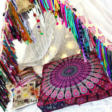 """35"""" Indian Mandala Square Cushion Floor Pillow Case Seating Cover Pouf Ottoman *"""