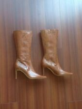 Kenneth Cole New York Botte En Cuir color Caramel Neuf