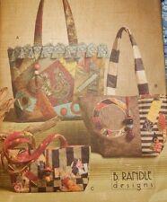 8099 Vogue Accessories 3 Quilt Purse Hand Bag Tote Bag Patterns B Randle Designs