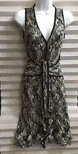 Missoni Black And White Chevron Light Knit Sleeveless Dress 4-6