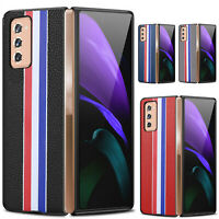 For Samsung Galaxy Z Fold2 5G FULL-Protective Case Cover Skin Genuine Leather