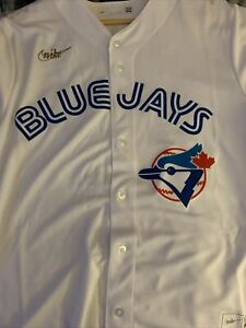 Joe Carter Toronto Blue Jays Nike Cooperstown White Jersey Large NWT
