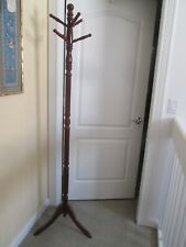 """New listing Solid Wood stand Coat Hat Umbrella Clothes Hanger 72"""" - mahogany"""