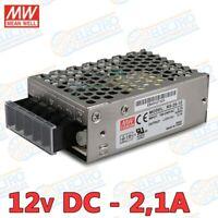 MEAN WELL RS-25-12 12V - 2,1A - 25,2W 220v AC-DC Fuente alimentacion conmutada