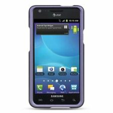 For Samsung Galaxy S2 Attain I777 Hard Crystal Rubber Skin Shell Case Purple