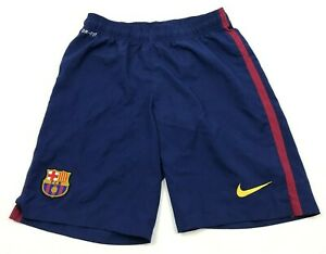 NIKE FC Barcelona Shorts Size Small S Blue Red Dry Fit Soccer Adult Mens Futball