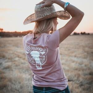 Cattle Co Ladies Scoop Dusty Pink Tee