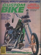 Custom Bike October 1980 Harley Davidson 100818ame